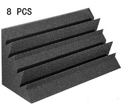 Hot Sale Acoustic Foam 8 PCS in Black Bass trap Soundproof foam