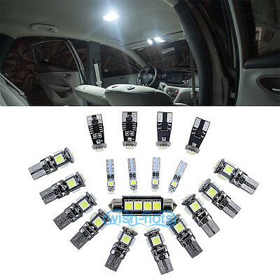 White 19 Pieces LED Interior Package Lights Kit For BMW 5 Series - F10