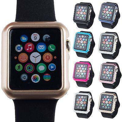 For Apple Watch iWatch 38mm/42mm Slim Protective Bumper Solid Hard Case Cover