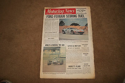 Motoring News 27 March 1969 Sebring 12 Hours GT40 Renault 8S Oulton Mallory etc