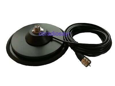 """7"""" PL Mag Mount with Anti Scratch Rubber Boot - For CB Radio Antenna Aerial"""