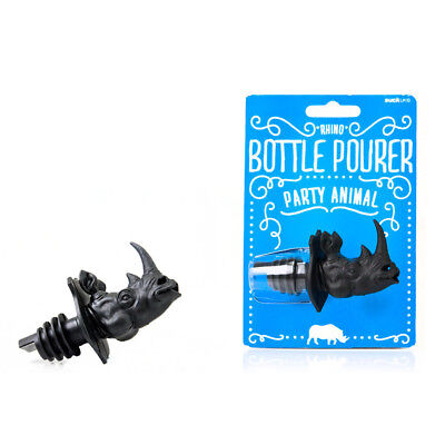 NEW Suck UK Party Animal Rhino Bottle Pourer