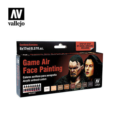 AIRBRUSH PAINT - VALLEJO GAME AIR - FACE PAINTING SET (8 x 17ML BOTTLES) 72.865