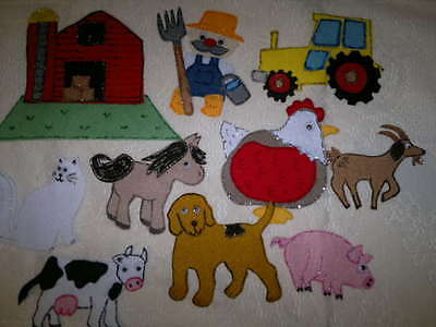 Felt Board/flannel Story Rhyme Teacher Resource -Old Mcdonald Had A Farm