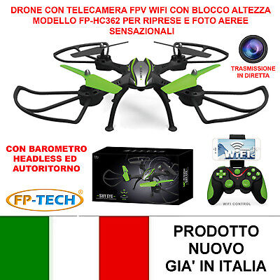 DRONE QUADRICOTTERO RADICOMANDATO 4CH 2,4Ghz CAMERA HD CH83 VIDEO E FOTO USB LED