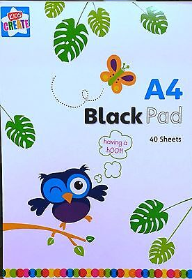 A4 Kids Create Black Color Paper Pad Art Crafts 40 sheets per pad