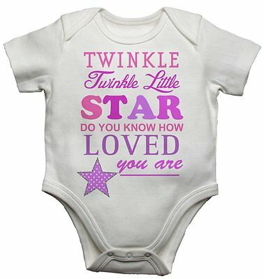 Twinkle Twinkle Little Star cute Baby Grow body Suit Vest gift present  z1