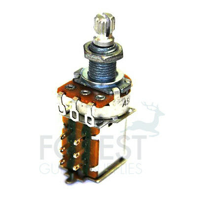 500K Push/Pull Audio Taper Potentiometer Split Knurled Shaft,8mm shaft diameter