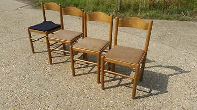 Retro Vintage Set Of 4 Dining Chairs - Upcycle / Shabby Chic?