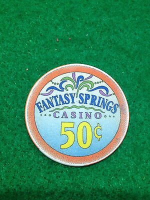 $0.50 Chip  Fantasy Springs Casino   Indio Ca  California Usa   Collectible