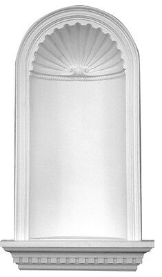 """Recessed Wall Niche 48""""  Primed White Polyurethane D608 shelf decorate molding"""