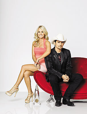 Brad Paisley Carrie Underwood 8x10 Glossy Photo Print