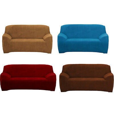 Super Fit 2 Seater Stretch Sofa Cover Couch Covers Slipcover Protector Removable