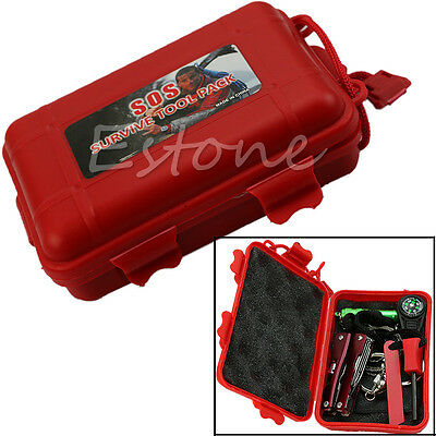 SelfHelp Outdoor Sport Hiking Camping Survival Emergency Gear Tools Box Kit SetS