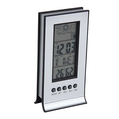 Indoor Outdoor Wireless Thermometer Weather Station Alarm Clock Calendar  OK