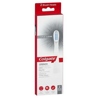 Colgate Pro Clinical Triple Clean Electric Toothbrush Heads 2pk. FREE Bonuses