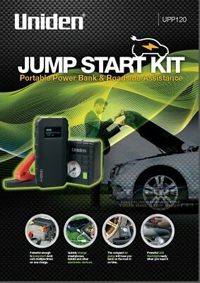 Uniden UPP120 Jump Start Kit Portable Power Bank & Air Pump With Led Light