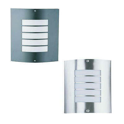 CHEETA Outdoor Wall Light Opal Acrylic Exterior Black,Silver Or Stainless OL7282