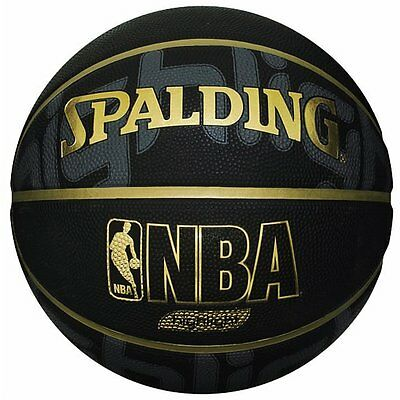 New!! SPALDING Japan Basketball GOLD HIGHLIGHT Size:7 Black Gold Japan Import