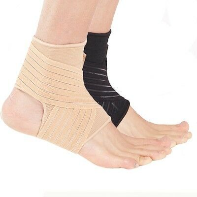 Actesso Beige Elastic Ankle Support with Strap Brace Sprains Strains Sport Guard