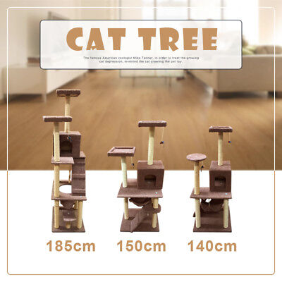 1.4M 1.5M 1.8M Cat Scratching Post Tree Gym House Condo Furniture Scratcher Pole