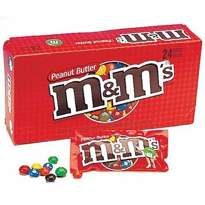 Case of 24 Peanut Butter M&M's American Sweet Chocolate m&ms from Candy Junction