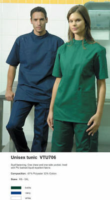 Veterinary Tunics /theatre //dentist/ Scrubs  Asst Colours Sizes Xs-5Xl Bnwt