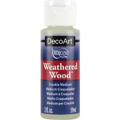 DecoArt Americana Paint Medium - Weathered Wood Crackle 2oz DAS8