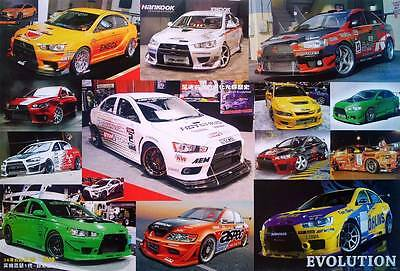 "Mitsubishi Lancer Evolution (1992-Now) POSTER 23""x34"" Lancer Evo Sports Car 14 M"