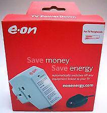 EOn Surge Protected Energy Saver Power Down Socket w/TV Remote Sensor by EON