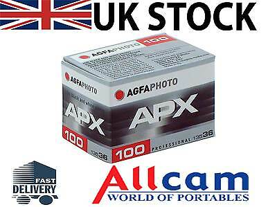 Agfa APX 100 135-36 Professional B&W Film (single roll, ISO100, 36 exp)