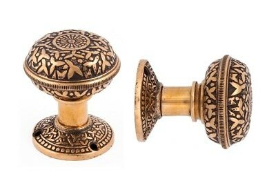 """Rice pattern round doorknobs and 2"""" rosettes"""