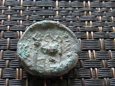 Ancient Greek Bronze Coin Unknown Tripod Very Interesting / 18mm