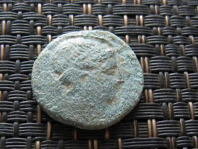 "Thrace, Mesembria 300 BC Bronze Coin ""Athena & Shield,Spear "" Ancient Greek Coin"