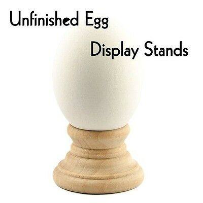 UNFINISHED WOOD EGG DISPLAY STAND ~ Lot of 2 or 12  { Ready to Finish } by PLD