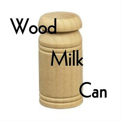 """WOOD MILK CAN ~ Parts for Toy Making & Crafts { 1 3/4"""" x 7/8"""" } ~ by PLD"""