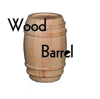Wood Pickle Barrel Parts For Toy Making Crafts 1 58 X 1 18