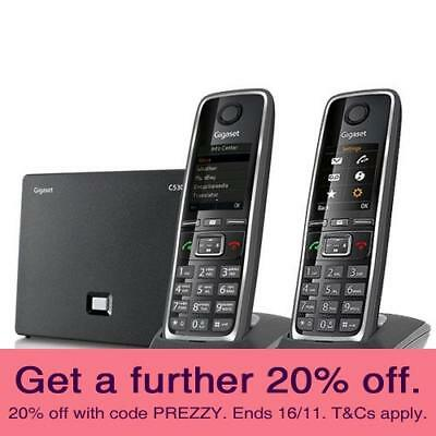 Gigaset C530AIP VoiP Cordless (TWIN) Kit with AUST GIGASET WARRANTY