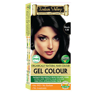 Black Cover Your Gray Hair with ALOE VERA 90% Herbal Based Dye PPD Ammonia FREE