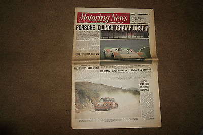 Motoring News 5 June 1969 Acropolis Rally Indy 500 Nurburgring 1000kms Can-Am