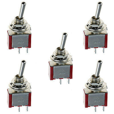 5 x On/Off Mini Miniature Toggle Switch Car Dash Dashboard SPST
