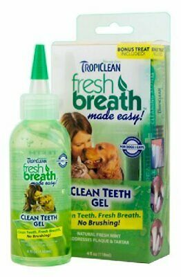 Tropiclean Fresh Breath & Clean Teeth Gel for Dogs 118ml