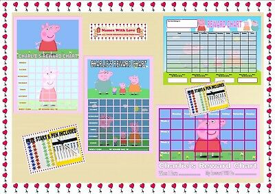 Re-usable Reward Chart (including FREE Star Stickers and Pen) -  Peppa Pig