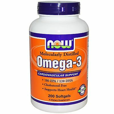 Now Foods Omega-3 fish oil 200 Softgels - Free P&P - Now Only £12.75 last few