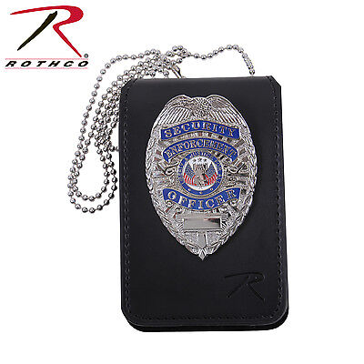 Universal Leather Badge & ID Holder with Neck Chain Rothco 1136 Holder Only