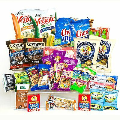 Healthy Snacks In A Box College Military Camp Care Package Gift Basket 30 Count