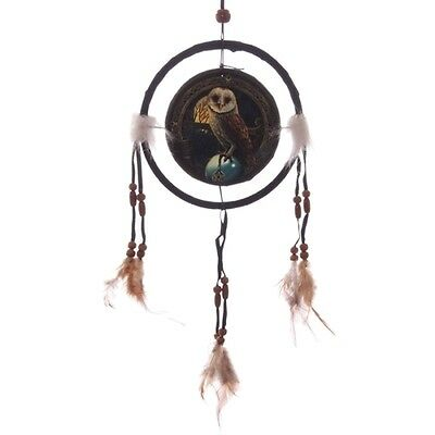 Attrape-Rêves (Ou Dreamcatcher) By Lisa Parker 16Cm - Chouette Effraie
