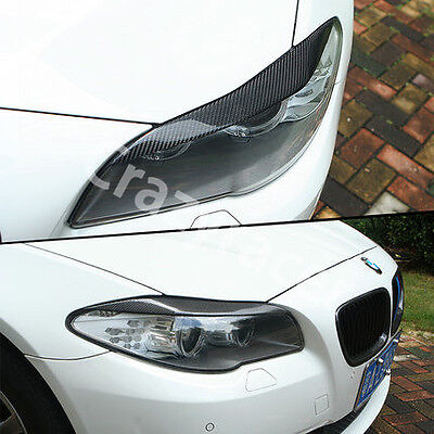 Carbon Fiber Front Headlight Cover Eyelid Eyebrow for BMW 5series F10 Saloon