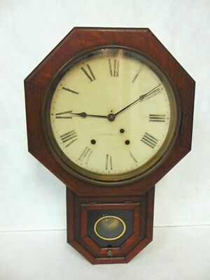 Antique Seth Thomas Regulator Clock W/ Oak Case