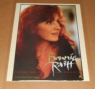 Bonnie Raitt Longing in Their Hearts 1994 Promo Original Poster 18x24